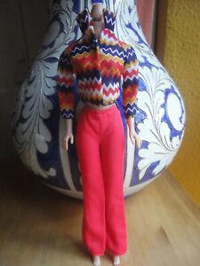 Original Mattel Barbie Clothes 1971 ZIG ZAG BAG # 3428 VGC Blk Label