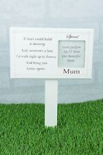 Mum Personalised Graveside Memorial Grave Stick Photo if Tears Could F1599C/P