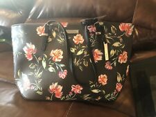 Nine West IT GIRL SLG BLACK FLORAL Purse/shopper/tote New With tags Reg. $89.00