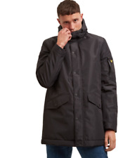 NEW F/W 19 LYLE & SCOTT TECHNICAL HOODED PARKA JACKET COL.BLACK CASUAL STYLE MOD