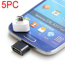 5X Micro USB to USB 2.0 OTG Cable Adapter for Android Samsung Tablet Converter
