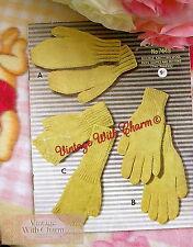 8 Paged 1950s Vintage Knitting Pattern Mens Gloves, Fingerless Gloves & Mitts.