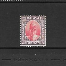 1938 King George VI SG117 40c. Scarlet & Dull Purple  Mint Hinged PERAK