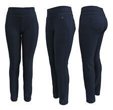 Freizeithosen Damen - MEGASTRETCH - Business- Stoffhosen mit Taschen u. Gummizug