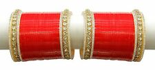 Indian Bridal Choora Indian Chura Set Traditonal Bangle Women Bollywood Jewelry