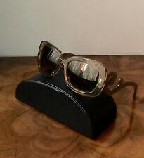 NWT Prada Minimal Baroque Brown Translucent W/Brown Arms Square Frame Sunglasses