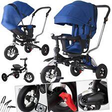 KESSER® Dreirad Kinderdreirad Kinder Lenkstange Dach Fahrrad Kinderwagen Blau