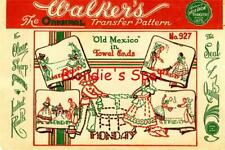 30's Hand Embroidery 927 Days of the Week towels Senior Senorita Old Mexico