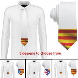 Catalan design Mens Neck Tie Silk Polyester 22 Designs