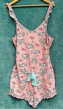 Disney Ladies Sleep Romper UK 18/20 Pink Thumper Bambi Night Wear Play Suit Bed