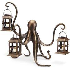 Whimsical Octopus Lantern Candle Holder Sculpture Coastal Nautical SPI Home
