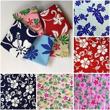 "5pcs 18""X30"" Hawaii Flower Cotton Fabric Kids-Clothes Bags Patchwork Quilt F18-4"