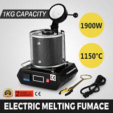 1KG Automatic Melting Furnace Kiln Digital Control Graphite Crucible Melt Gold