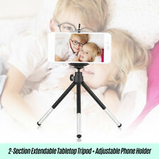 2-Section Extendable Mini Tabletop Tripod+Adjustable Phone Holder for Smartphone