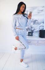 Damen 2 Teiler Baumwolle Set Sweathose+ Sweatshirt, Freizeitanzug , Gr. S M