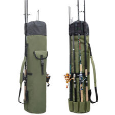 Fishing Bag Fishing Rod Reel Case Carrier Holder Fishing Pole Storage for 5 Rods