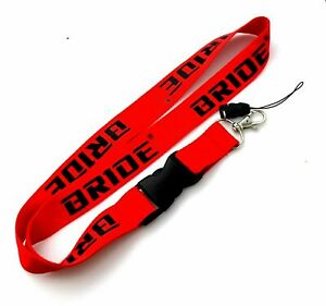 JDM BRIDE Racing NYLON DOUBLE SIDE Lanyard Neck Strap KeyChain Quick Release