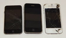 Lot of 3 Apple Products 16Gb iPhone 3GS/ iphone 4 / 8Gb Ipod Highly damaged