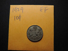 1929 10 Cent Coin Canada George V Ten Cents .800 Silver. EF Grade