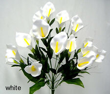 18 CALLA LILIES ~ WHITE ~ Artificial Foam Wedding Flowers Bouquets Centerpiece