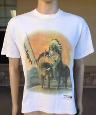 Vintage Indian Chief Game Day Single Stitch T Shirt Large USA American Frontier