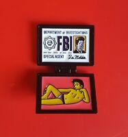 Simpsons Mulder FBI X-Files Pin Enamel Metal Brooch Lapel Badge Kids Adult Gift