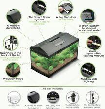 Fish Tank Complete Aquarium Set Up Heater Light Filter & Cover Tropical Fish 54L