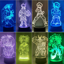 My Hero Academia Series Figure Home Decor 7Color LED Night Light Table Lamp Gift