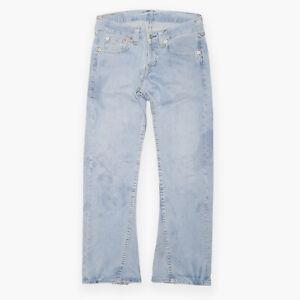 LEVI'S 907 10 Blue Denim Regular Bootcut Jeans Mens W36 L34