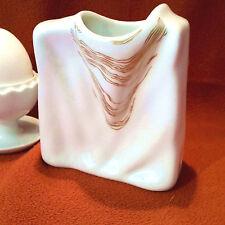 Eschenbach Vase Porzellan Faltenwurf Design 60er Jahre