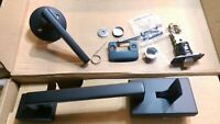 Schlage Century Front Entry Handle and Latitude Interior Lever FE285 Matte Black