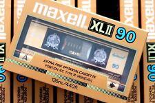 MAXELL XLII 90 EPITAXIAL HIGH BIAS TYPE II BLANK AUDIO CASSETTE - JAPAN 1985
