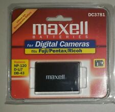 MAXELL DC3781 Lithium Ion RECHARGEABLE BATTERY Fuji Pentax REPLACE NP-120
