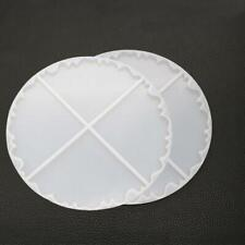 New Irregular Wave Round Coaster Silicone Resin Mold Epoxy Resin  Jewelry Making