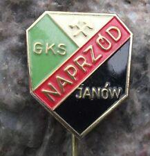 Antique GKS Naprzod Janow Poland Polish Ice Hockey Club Hammer Logo Pin Badge