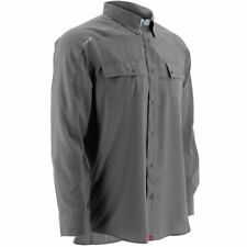 Huk Men's Next Level Charcoal Grey Xx-large Button up Long Sleeve Shirt