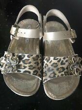 SUPERGA Girls Leather shoes sandals size 27 UK 9 Used VGC