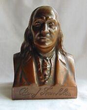 Cosmopoitan National Bank Of Chicago Ben Franklin Vintage Copper Bank
