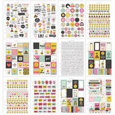 Simple Stories Carpe Diem Sticker Tablet Emoji Love Planner Stickers