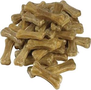 "Bulk Pack Dogs Natural Rawhide Chews Pressed Knuckle Bones Dog Treat 5"""