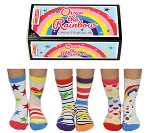 UNITED ODDSOCKS OVER THE RAINBOW SIX ODD SOCKS FOR GIRL UK SIZE 9 - 12