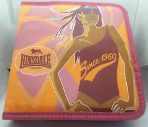 POCHETTE RANGE 24 CD DVD Blueray CLASSEUR ETUI BELLE QUALITE - MARQUE LONSDALE