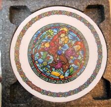 """Vintage Limoge Plate Christmas """"Flight into Egypt"""" 8.25"""" Co All Paperwork & Box"""