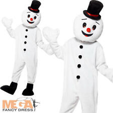 Deluxe Mascot Snowman Christmas Fancy Dress Festive Xmas Adults Costume Outfit
