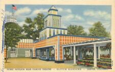 Amusement Elitch Gardens Denver Colorado Theater linen Teich postcard 11367