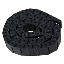 15 X 30mm 1m Length R28 Black Nylon Chain Drag Carrier Cable Track Semi-closed