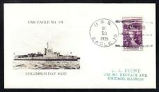 Patrol Boat USS EAGLE 19 SUNK WWII By German U-Boat Naval Cover 1 MADE (A1670)