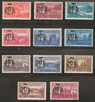 Romania 1948 MNH Mi 1106-1116 Sc 684-694 King Michael,Overprinted in Black **