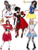 Size 8 -18 Fairytale Horror Zombie Halloween Ladies Fancy Dress Costume Womens