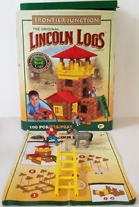 LINCOLN LOGS 100 piece FRONTIER JUNCTION building set 00915 *complete